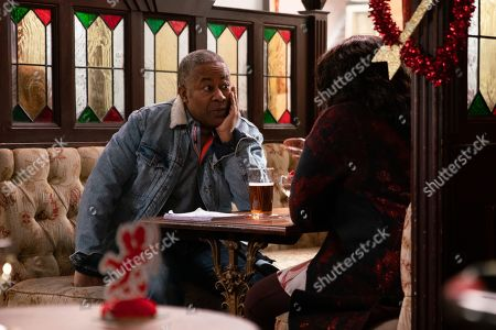 Ep 10007 Friday 14th February 2020 - 2nd Ep Ed Bailey, as played by Trevor Michael Georges, tells Aggie Bailey, as played by Lorna Laidlaw, how his old mate Danny has declared himself gay.