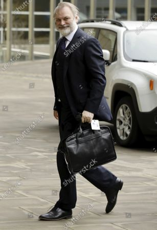 Tim Barrow, Permanent Representative of the United Kingdom to the European Union, arrives at the EU headquarters in Brussels, Belgium, 31 January 2020. Britain officially exits the EU on 31 January 2020, beginning an eleven month transition period.