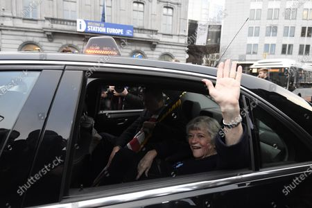 Manifestation at the European Parliament with Ann Widdecombe