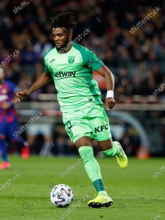 BARCELONA, SPAIN - :.Chidozie Collins Awaziem of SD Leganes during the Spanish Copa del Rey Round of 16 match between FC Barcelona and SD Leganes at Camp Nou on in Barcelona, Spain. (Photo by DAX/ESPA-Images)