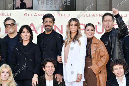 Director Gabriele Muccino, producer Raffaella Leone, Nicoletta Romanoff, Emma Marrone, Claudio Santamaria