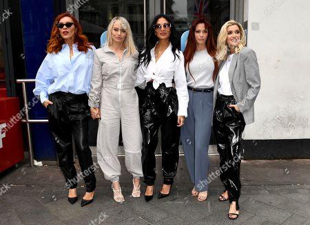 Carmit Bachar, Kimberly Wyatt, Nicole Scherzinger, Jessica Sutta, Ashley Roberts at Heart Radio
