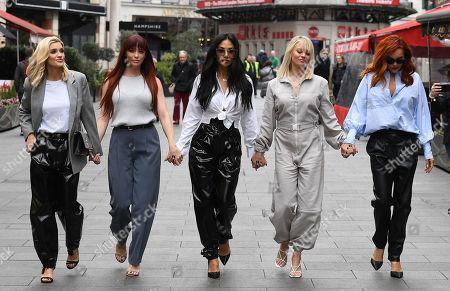 Ashley Roberts, Jessica Sutta, Nicole Scherzinger, Kimberly Wyatt, Carmit Bachar at Heart Radio
