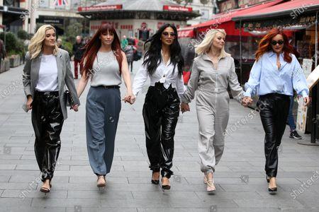 Stock Picture of Ashley Roberts, Jessica Sutta, Nicole Scherzinger, Kimberly Wyatt, Carmit Bachar at Heart Radio