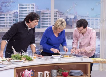 Stock Picture of Jean-Christophe Novelli and Ruth Langsford with Tom Surgey
