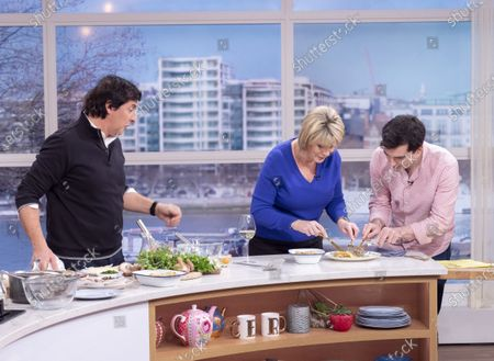 Stock Image of Jean-Christophe Novelli and Ruth Langsford with Tom Surgey