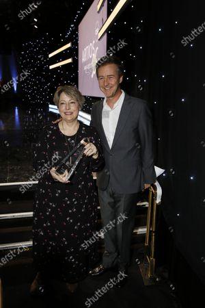 Stock Photo of Deborah Aquila and Edward Norton