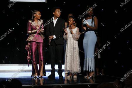 Stock Picture of Eris Baker, Asante Blackk, Faithe Herman and Lyric Ross