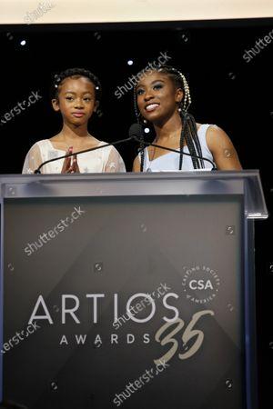 Faithe Herman and Lyric Ross