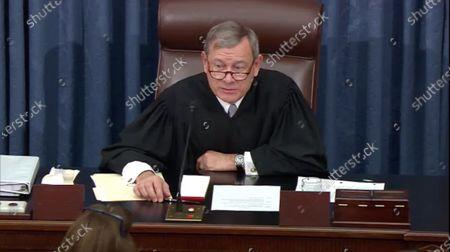 Editorial image of President Trump impeachment trial, Washington DC, USA - 30 Jan 2020