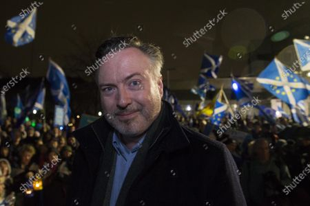 Alyn Smith MP after addressing the anti-Brexit demonstrators outside The Scottish Parliament.