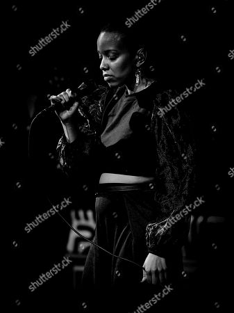 Editorial image of Jamila Woods in concert at The Parker Playhouse, Florida, USA - 30 Jan 2020