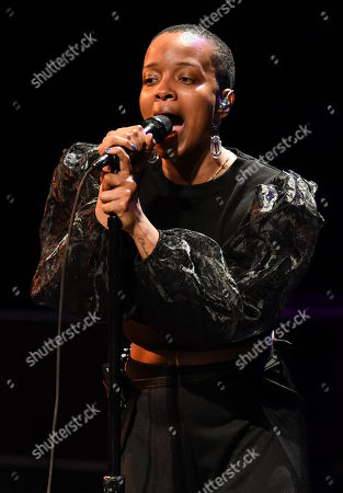Editorial photo of Jamila Woods in concert at The Parker Playhouse, Florida, USA - 30 Jan 2020