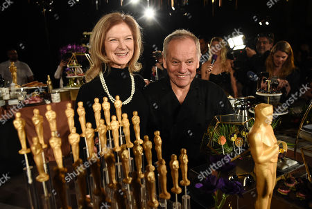 Dawn Hudson, Wolfgang Puck. Dawn Hudson, left, CEO of the Academy of Motion Picture Arts and Sciences, poses with chef Wolfgang Puck at the Governors Ball Press Preview for the 92nd Academy Awards at the Dolby Theatre, in Los Angeles. The Academy Awards will be held at the Dolby Theatre on Sunday, Feb. 9