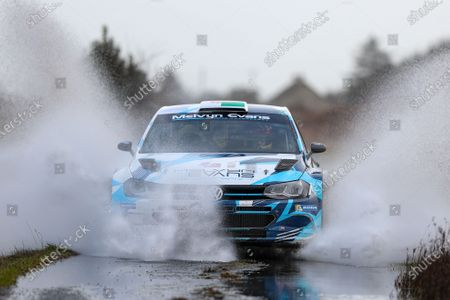 Stock Picture of 2nd February 2020; Galway, Galway, Ireland; Irish Tarmac Rally Championship, Galway International Rally;  Meirion Evans and Jonathan Jackson (Volkswagen Polo GTI R5) finish the rally in 4th place overall