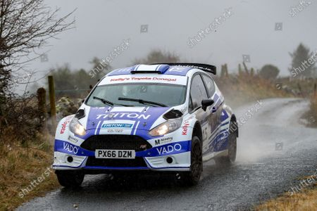 2nd February 2020; Galway, Galway, Ireland; Irish Tarmac Rally Championship, Galway International Rally;  Paul Barrett and Kevin Reilly (Ford Fiesta R5) finish in 9th place overall