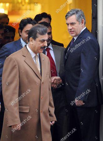 Pakistani Prime Minister Yousaf Raza Gillani and Prime Minister Gordon Brown