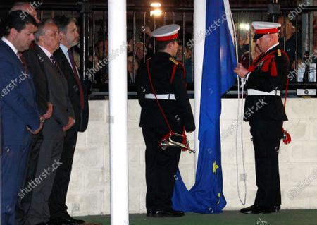 Editorial image of Gibraltar holds ceremony to bid Europe farewell, Spain - 01 Feb 2020