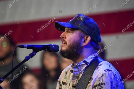 Justin Vernon of American indie folk band Bon Iver performs at the Bernie 2020 Caucus Concert, a campaign event for US Senator Bernie Sanders, at the Horizon Events Center in Clive, Iowa, USA, 31 January 2020. The first-in-the-nation Iowa caucuses are scheduled for 03 February 2020.