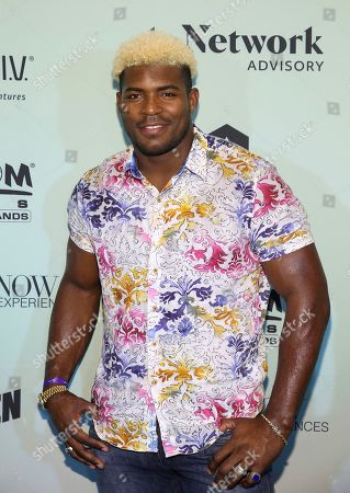 Yasiel Puig attends the Bootsy On the Water at the Miami Seaquarium on Friday, Jan. 31,2020, in Miami, FL