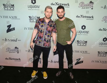 Lance Bass, Michael Turchin. Singer Lance Bass along with husband Michael Turchin attend the Bootsy On the Water at the Miami Seaquarium on Friday, Jan. 31,2020, in Miami, FL