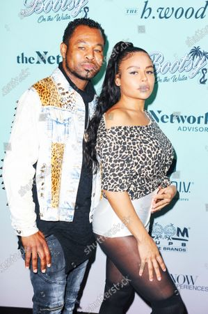 Stock Photo of Sugar Shane Mosley and Trista Mosley