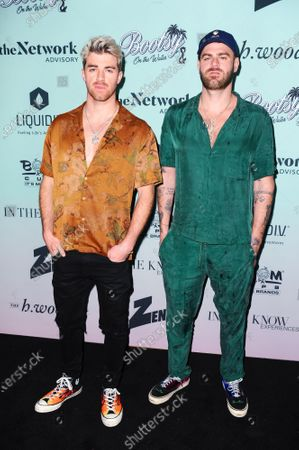 The Chainsmokers duo Andrew Taggart and Alex Pall