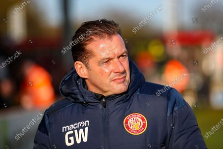 Stevenage Manager Graham Westley during the EFL Sky Bet League 2 match between Stevenage and Leyton Orient at the Lamex Stadium, Stevenage