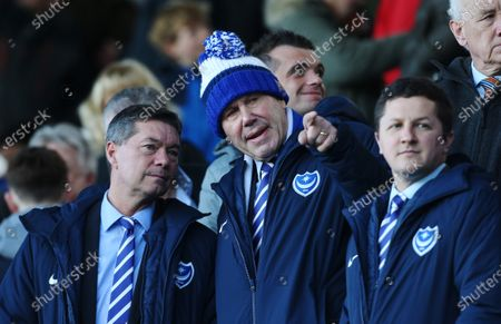 Stock Image of Portsmouth's Chief Executive Mark Catlin and Portsmouth's Chairman Michael Eisner