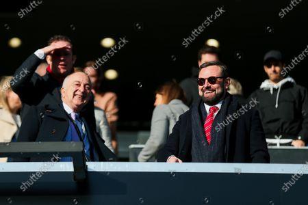 Stock Photo of Bristol City CEO Mark Ashton and supporter Tony Robinson