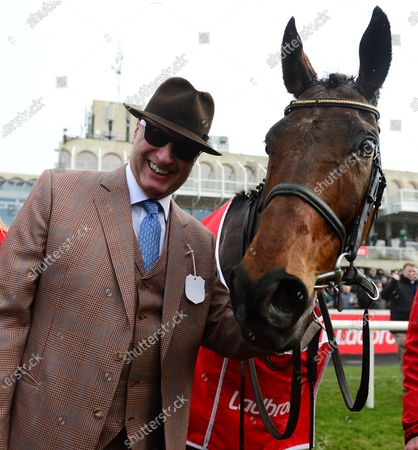 LEOPARDSTOWN. CHACUN POUR SOI and owner RICH RICCI after win.