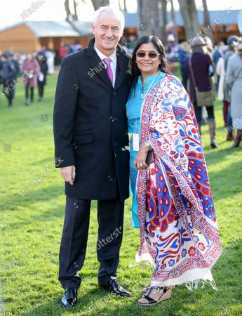 Ian Rush with Rita Shah