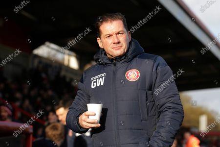 Stevenage manager Graham Westley during Stevenage vs Leyton Orient, Sky Bet EFL League 2 Football at the Lamex Stadium on 1st February 2020