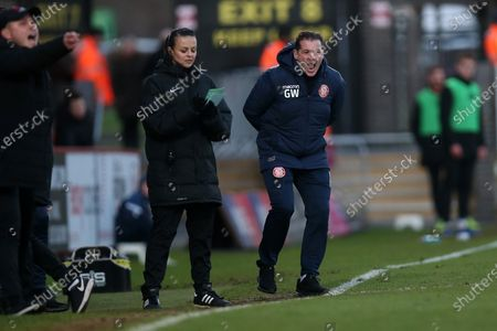 Stock Photo of Stevenage manager Graham Westley during Stevenage vs Leyton Orient, Sky Bet EFL League 2 Football at the Lamex Stadium on 1st February 2020