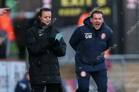 Stock Image of Stevenage manager Graham Westley during Stevenage vs Leyton Orient, Sky Bet EFL League 2 Football at the Lamex Stadium on 1st February 2020