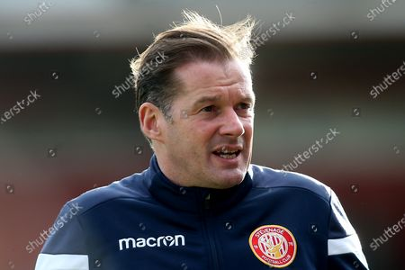 Stevenage manager Graham Westley during Stevenage vs Leyton Orient, Sky Bet EFL League 2 Football at the Lamex Stadium on 1st February 2020