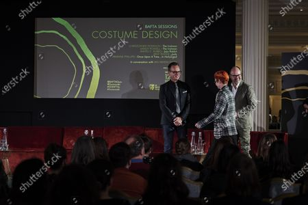 Sandy Powell, Christopher Peterson and Ian Haydn Smith