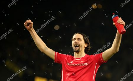 Former player of Borussia Dortmund and actual Union Berlin's player Neven Subotic reacts after the German Bundesliga soccer match between Borussia Dortmund and 1. FC Union Berlin in Dortmund, Germany, 01 February 2020.