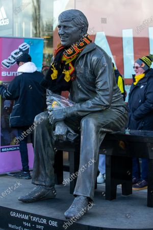 Graham Taylor OBE statue outside the ground