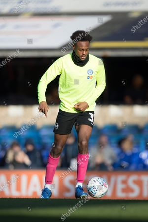 Ricky Jade-Jones of Peterborough United warms up during Ipswich Town vs Peterborough United, Sky Bet EFL League 1 Football at Portman Road on 1st February 2020