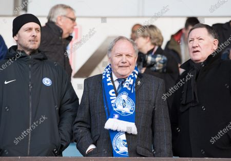Barry Fry in the visitors box during Ipswich Town vs Peterborough United, Sky Bet EFL League 1 Football at Portman Road on 1st February 2020