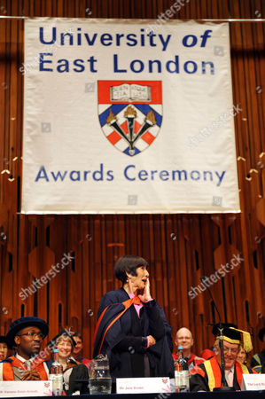 Stock Photo of June Brown awarded an honorary Master of Arts