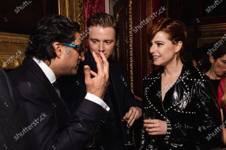 Asif Kapadia, Jack Lowden and Jessie Buckley