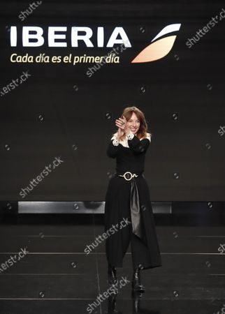 Spanish designer Teresa Helbi is greeted after the presentations of the new uniforms for Iberia airlines created by her, as part of the Mercedes-Benz Fashion Week 2020 Madrid, in Madrid, Spain, 01 February 2020. The Fall/Witer 2020/21 collections are presented at the MBFW Madrid from 28 January to 02 February.