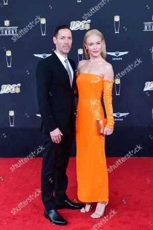 Kate Bosworth, Michael Polish. Michael Polish and Kate Bosworth arrives at the 9th Annual NFL Honors at the Adrienne Arsht Center in Miami on