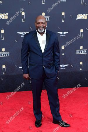 Emmitt Smith arrives at the 9th Annual NFL Honors at the Adrienne Arsht Center in Miami on