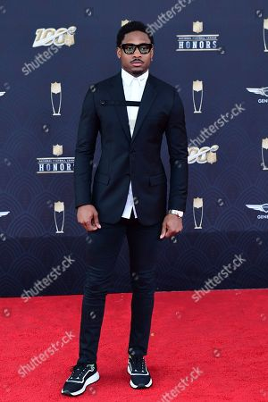 Stefon Diggs arrives the 9th Annual NFL Honors at the Adrienne Arsht Center in Miami on