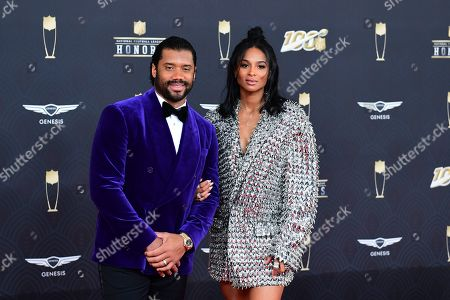 Russell Wilson and Ciara arrive for the 9th Annual NFL Honors at the Adrienne Arsht Center in Miami on