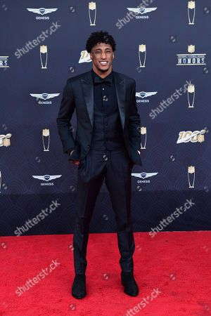 Michael Thomas arrives at the 9th Annual NFL Honors at the Adrienne Arsht Center in Miami on