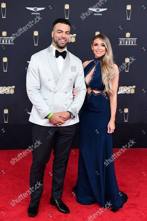 Kyle Van Noy, Marissa Powell. Kyle Van Noy and Marissa Powell arrive for the 9th Annual NFL Honors at the Adrienne Arsht Center in Miami on